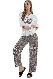 Ladies Ex Marks And Spencer M/&S Short Sleeve Floral Blue Spot Pyjama Set