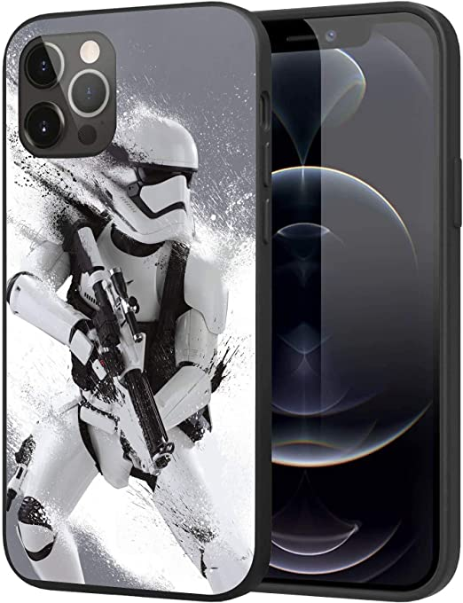 iPhone 12 Pro Max Case,Silicone Case Cover Case Fashion Case (Starwars-Storm-Trooper)
