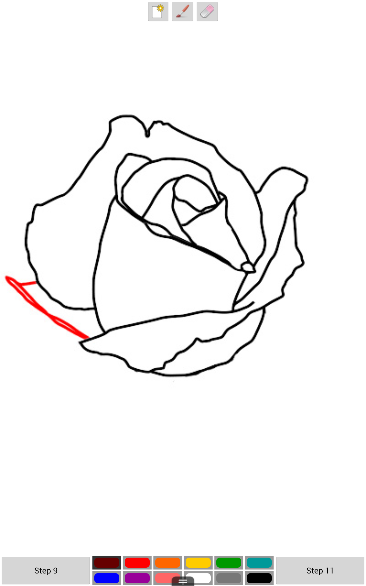 amazon com  how to draw a rose free step by step  appstore