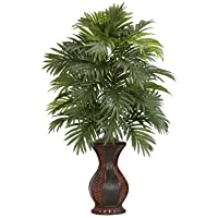 Deals on Nearly Natural 6661 Areca Palm with Urn Silk Plant