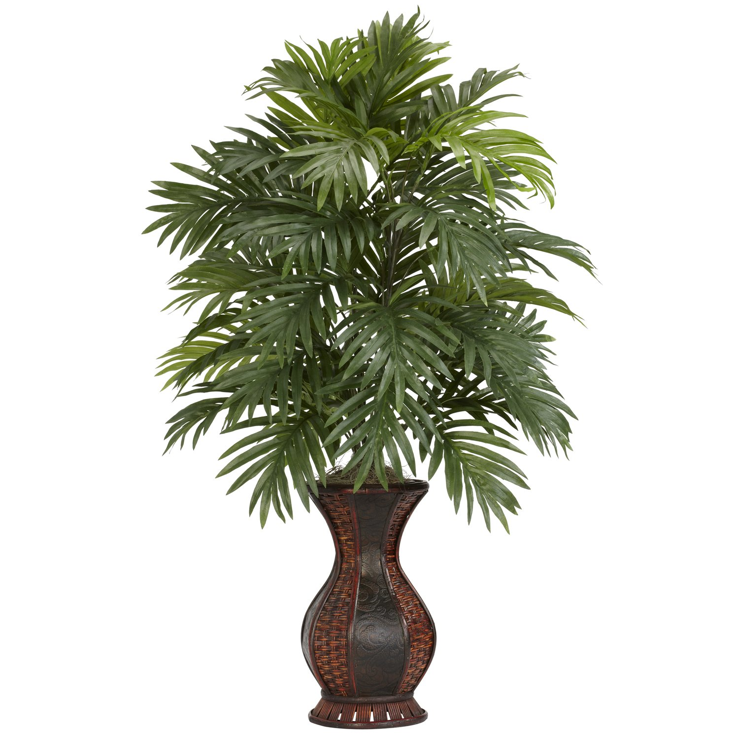 Nearly Natural 6661 Areca Palm with Urn Decorative Silk Plant  Green