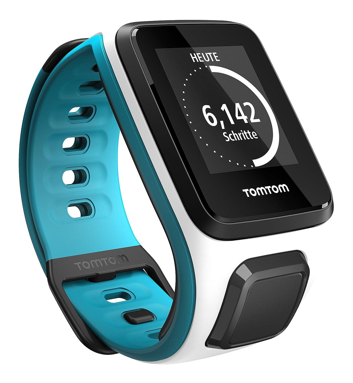 TomTom Runner2 - Reloj deportivo, color blanco / turquesa, talla S (121-175 mm)
