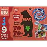 BEAR Pure Fruit Yoyos Strawberry Family Pack 9 x 20 g (pack of 5)