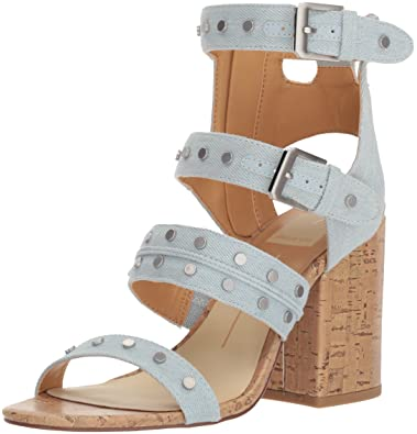 c60349ef83c8 Dolce Vita Women s Eddie Heeled Sandal Light Blue Denim 6 ...