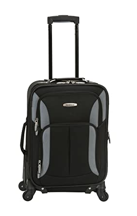 Amazon.com | Rockland Luggage 19 Inch Expandable Spinner Carry On ...
