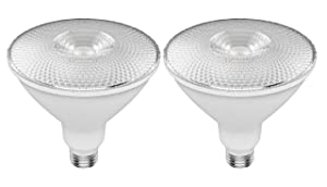 GE Lighting 43093 Refresh HD LED (120-Watt Replacement), 1300-Lumen PAR38 Bulb, Medium Base, Daylight, 2-Pack, Title 20 Compliant