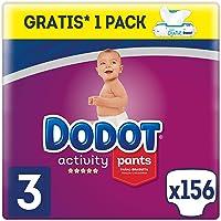 Dodot Activity Pants Pañal-Braguita Talla 3, 156 Pañales