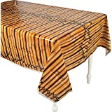 1 X Faux Bamboo Tropical Tiki Table Cover size 54'w*108'L