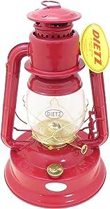 Dietz #1 Little Wizard Oil Lamp Burning Lantern Red with Gold Trim