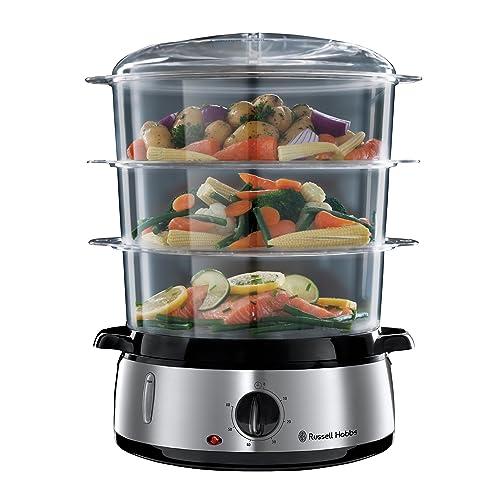 Russell Hobbs Cook Home Vaporera 800 W Cocina Lenta Sin BPA Acero Inox Capacidad para 9 litros ref 19270 56