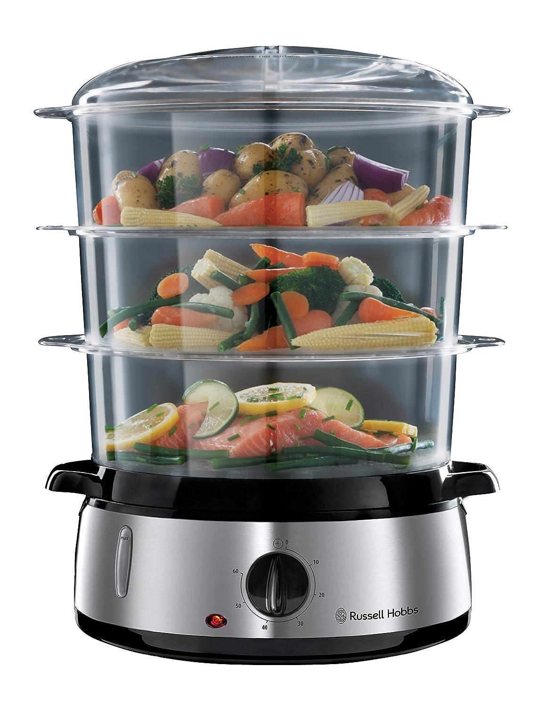 Russell Hobbs Cook@Home - Vaporera (800 W, Cocina Lenta, Sin BPA, Acero Inox, Capacidad para 9 L) Referencia 19270-56