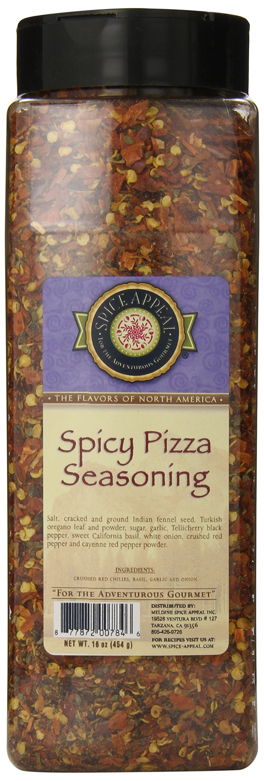 Spice Appeal Spicy Pizza Seasoning, 16 Ounce