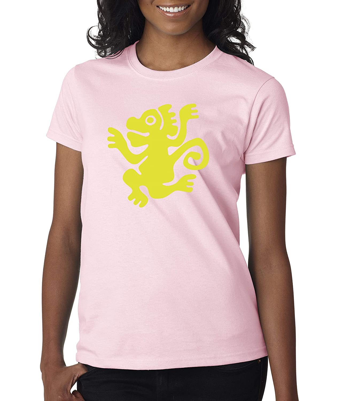Light Pink Trendy USA 814  Women's TShirt Legends Hidden Temple LOTHT [Green Monkeys]