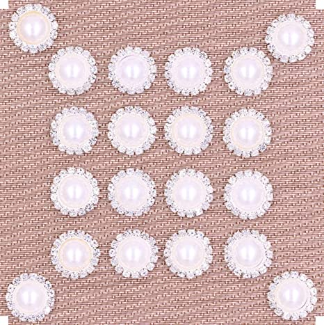 10X Flatback Rhinestone Buttons Embellishment For Wedding Invitation Bouquet