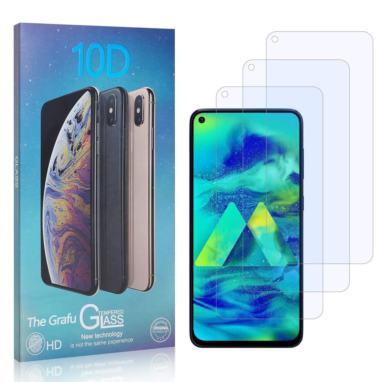 WanShiHengTong Clear GGR 25 PCS for Galaxy M40 A60 Fingerprint Proof Full Screen Tempered Glass Film Shatterproof