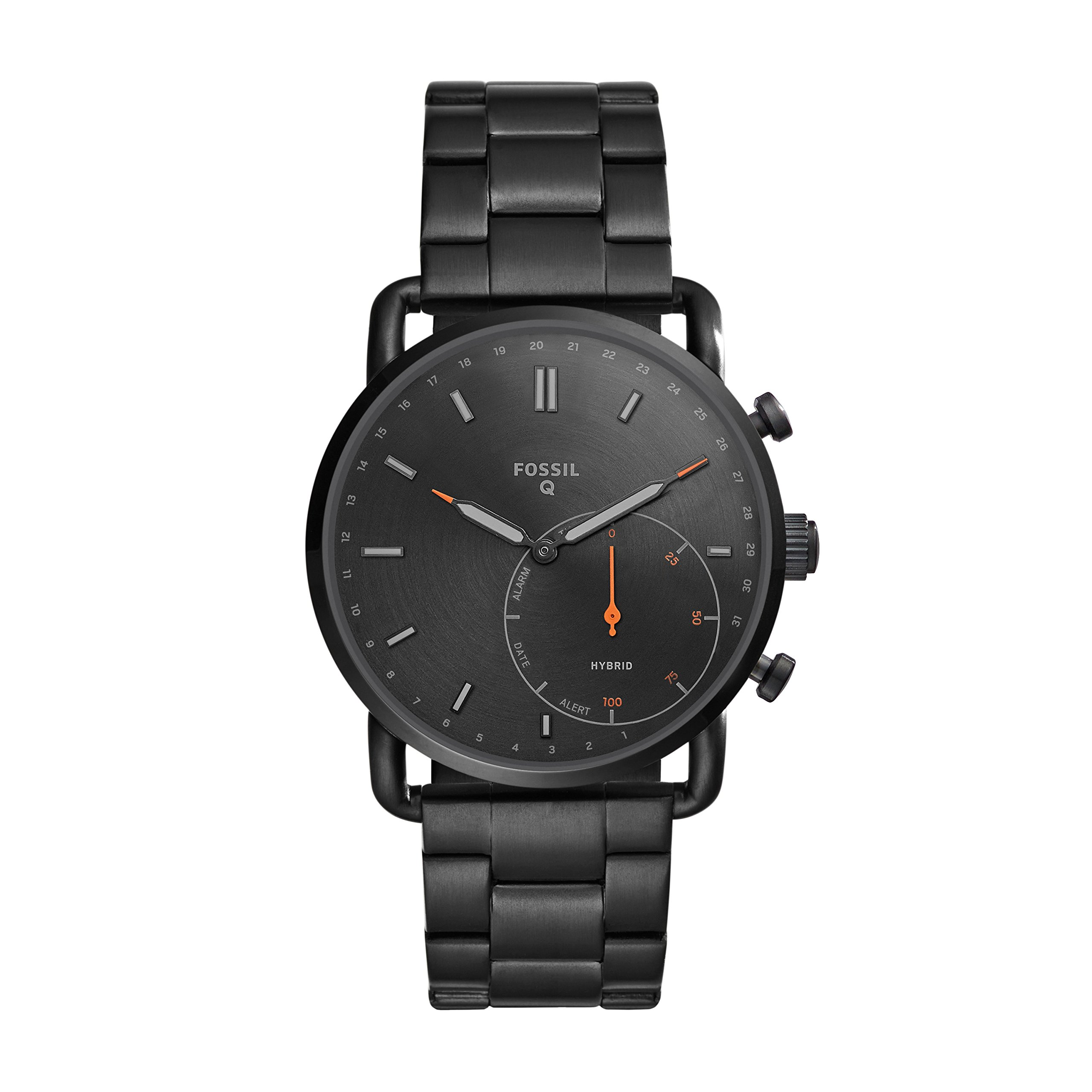   Fossil Hybrid Smartwatch - Q Commuter Black Stainless Steel FTW1148