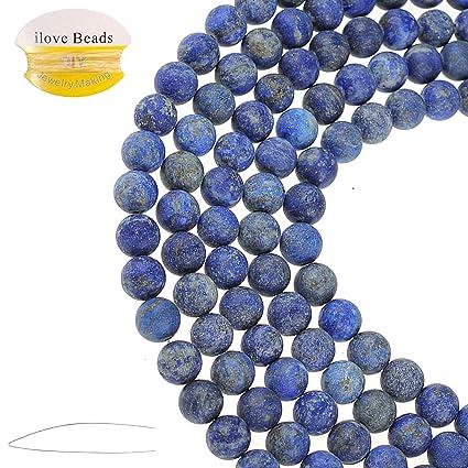 40PCS Natural Gemstone Blue Point Beads DIY 4//6//8//10mm