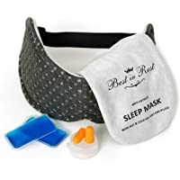 Luxury Sleep Eye Mask with Memory Foam lining, Hot & Cold Gel Inserts, and Ear Plugs - this sleep mask can be used as…