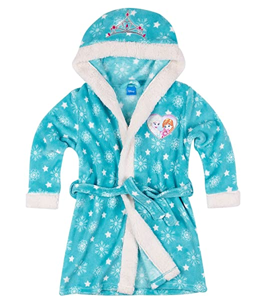 Disney El reino del hielo Chicas Bata de baño con capucha Coral fleece - Turqueza: Amazon.es: Ropa y accesorios