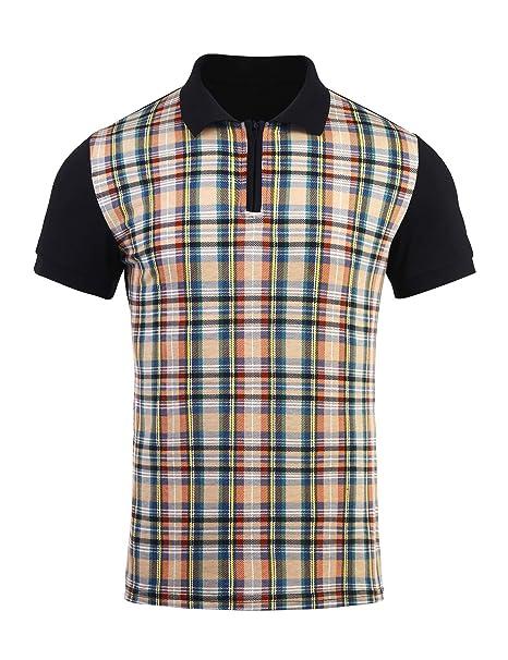 zeela Herren Poloshirt Polohemd Hemd Kurzarm Kariert Shirt Größe S ... 5f6b84981d