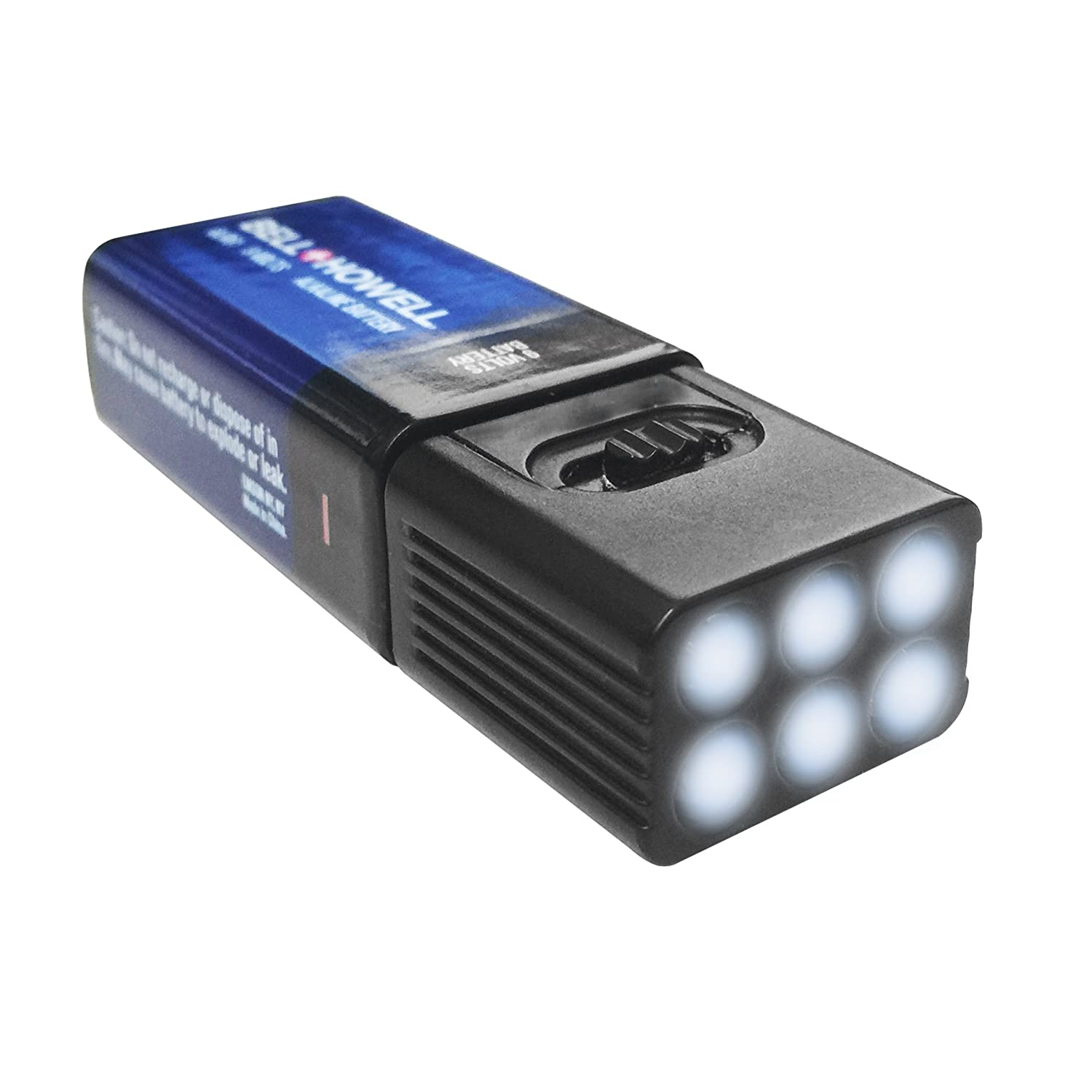 Microbrite LED Flashlight by Bell and Howell with Free 9-Volt Battery 4