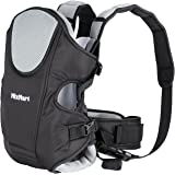MixMart Soft Baby Carrier 3-in-1 Ergonomic for Men Women with Clever Bib Airflow 3D Breathable Mesh (Black/Gray)