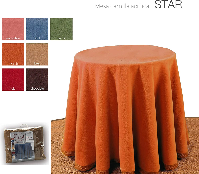 mantel Falda para Mesa Camilla Redonda Hogar Decorativa Invierno de 100/% acr/ílico Medidas Chocolate, 80cm