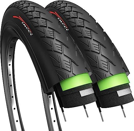 Fincci Par 700 x 32c 32-622 Cubiertas con 2.5mm Anti Pinchazo para Eléctrica Carretera MTB Montaña Hibrida Turismo Bici Bicicleta (Paquete de 2): Amazon.es: Deportes y aire libre
