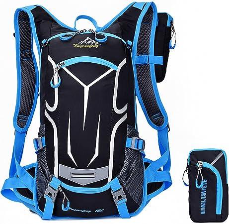 hoaey Mochila de senderismo mochila ligera para viaje Escalada Ciclismo Running Camping Deportes al aire libre hombros mochila de hidratación bolsa de ...