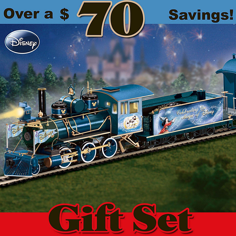 Amazon.com: Magic Of Disney Express Illuminating Train Set by ...