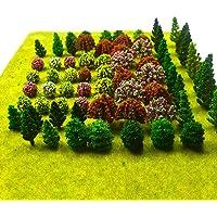 70pcs Model Trees Mixed Miniature Trees Model Train Scenery Artificial Wargame Trees Model Railroad Scenery Diorama…