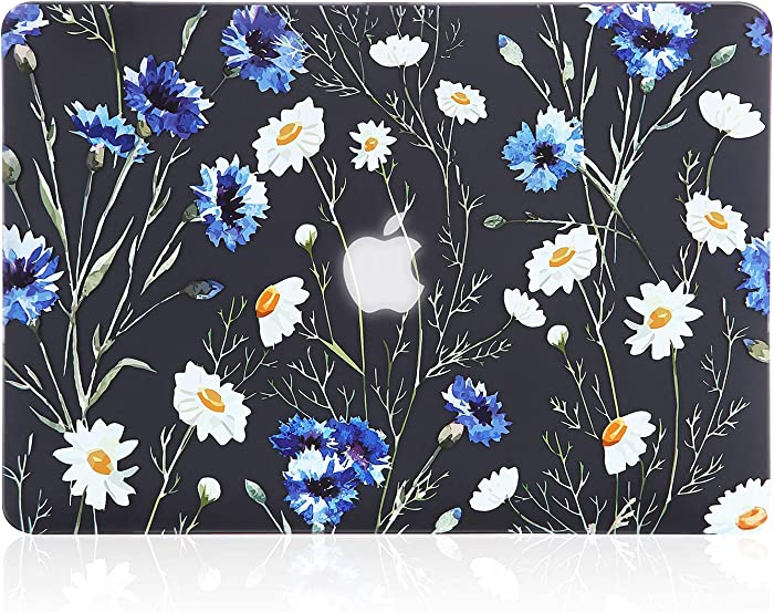 iDonzon MacBook Pro 13 inch Case (A1278 2008-2012 Release),3D Effect Matte Black See Through Hard Case Cover Only Compatible MacBook Pro 13.3 inch with CD-ROM - Floral Pattern