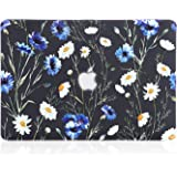 iDonzon MacBook Air 13 inch Case (2010-2017 Release), 3D Effect Matte Black See Through Hard Case Cover Only Compatible MacBook Air 13.3 inch (Model: A1369 & A1466) - Floral Pattern