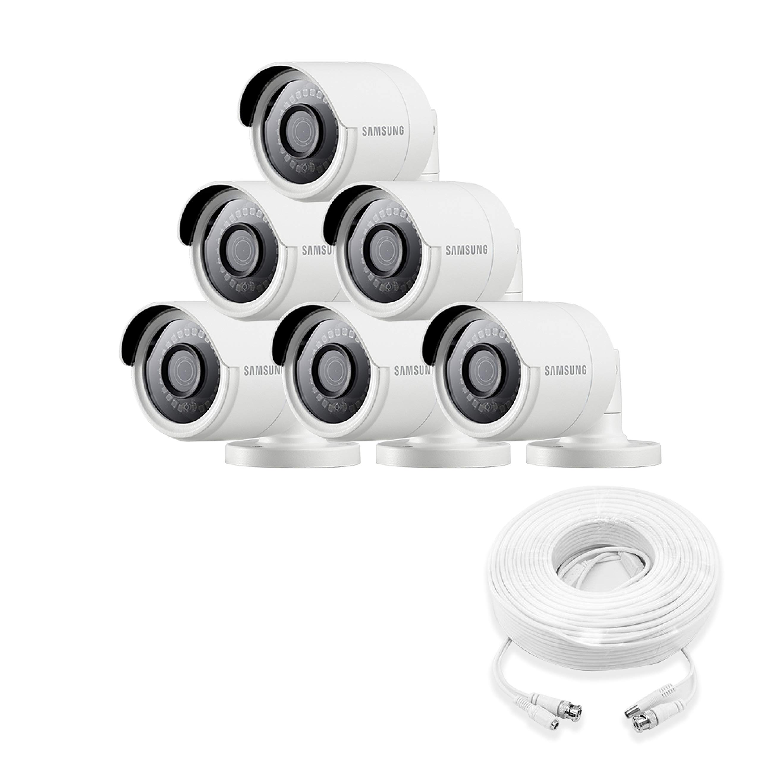 Samsung Wisenet SDC-89440BB-6PK - 4MP Weatherproof Bullet Camera (6-Pack) Compatible with SDH-C85100BF