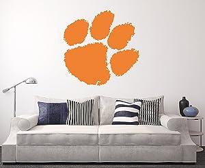 Clemson Tigers Wall Decal Home Decor Art College Football NCAA Team Sticker