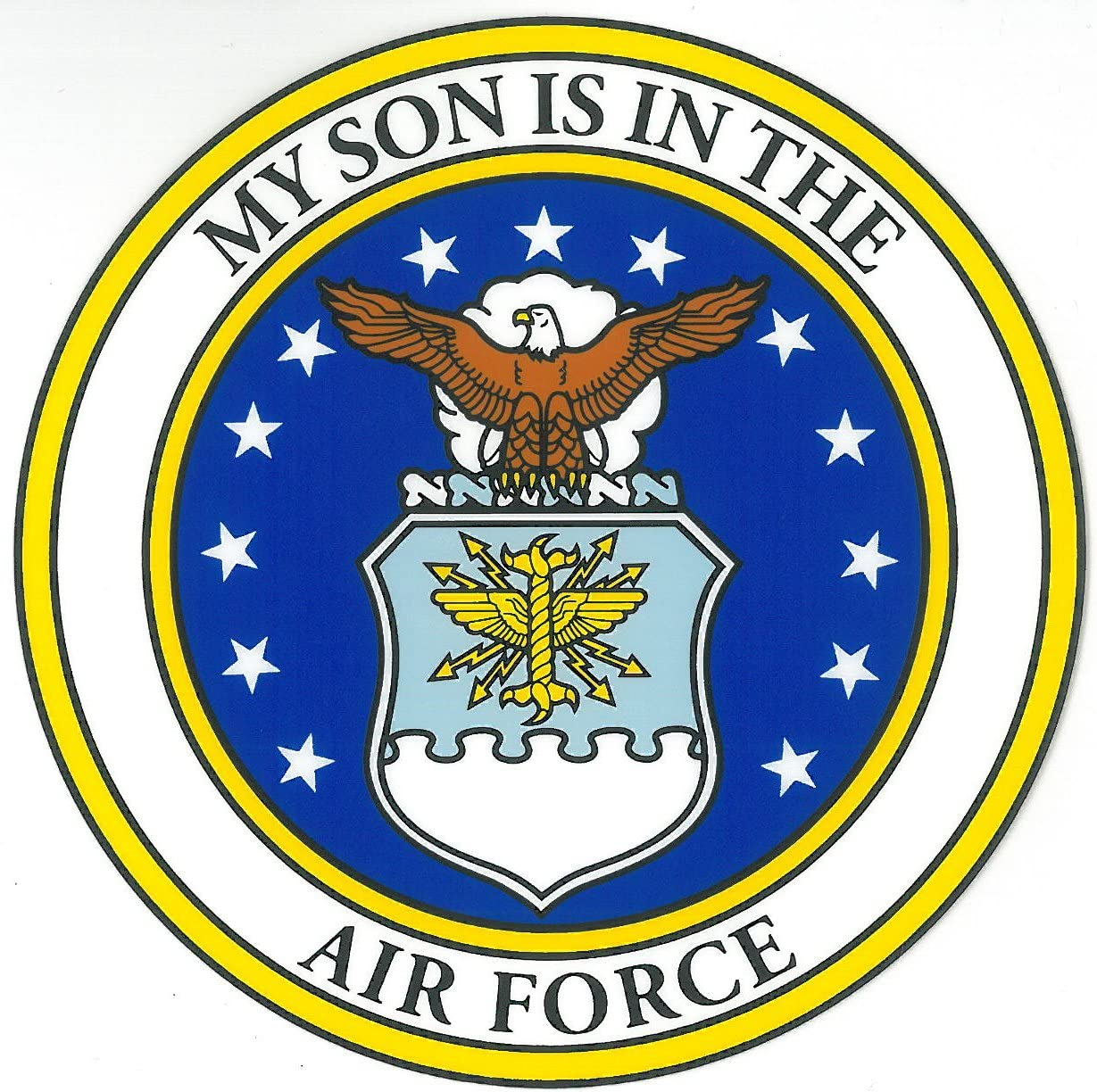 My Son Is In The Air Force With Crest Clear Decal Mitchell Proffitt D89-AF