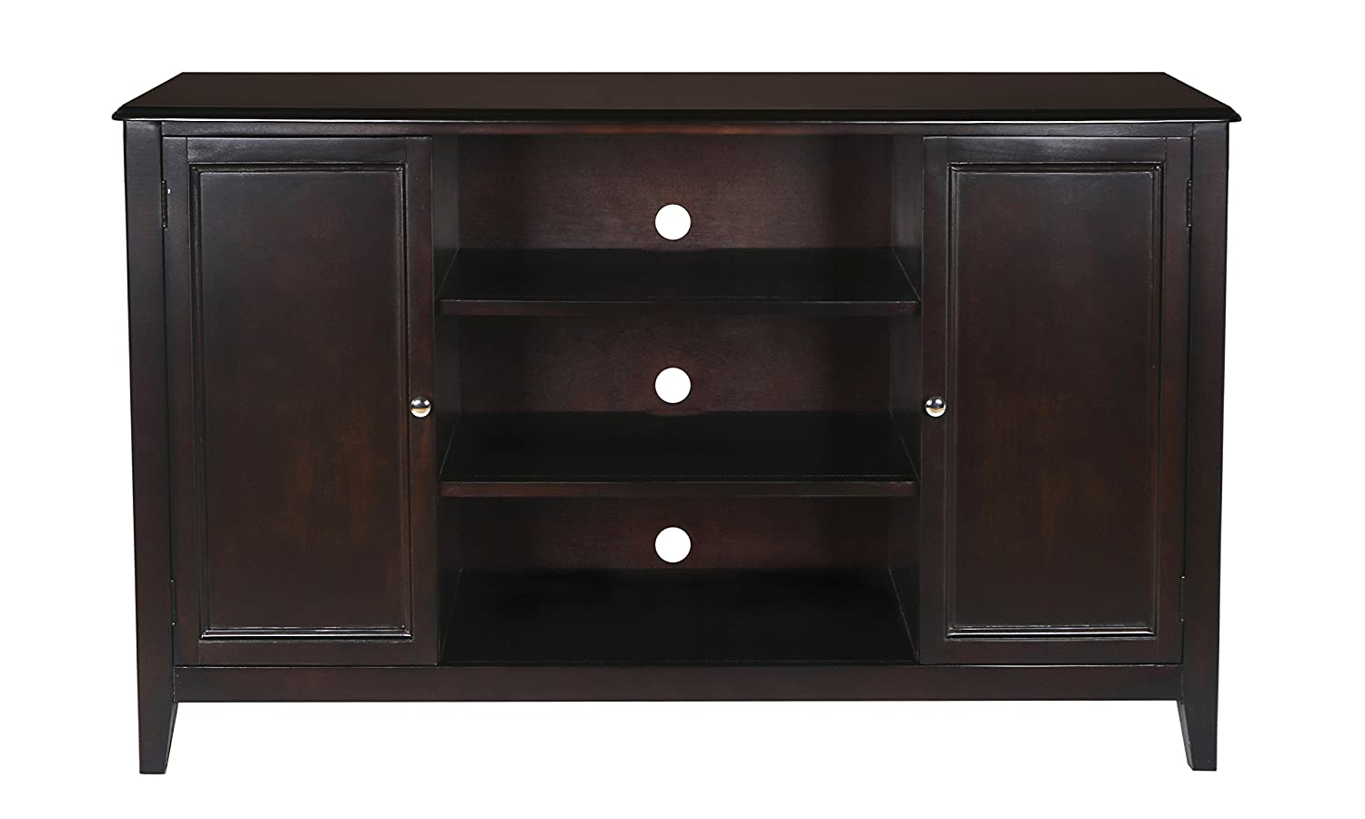 New Classic Ventura Black Cherry Entertainment Console New Classic Home Furnishings 10-700-10