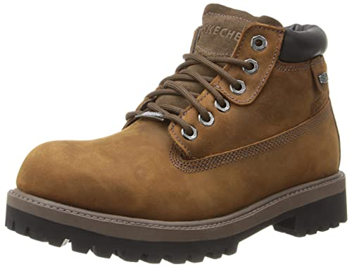 Mens Skechers Sergeants - Verdict; Nubuck Waterproof Leather Upper Casual Fashion Ankle Boots with P