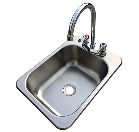 Counter Top Sunk Inset Stainless Steel HAND WASH BASIN Sink Waste, Plug U0026  Tap