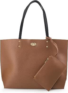 Womens Leather Top Handle Shoulder Handbag Love Ghost Large Work Tote Bag