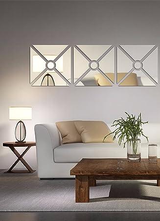 Buy Saifee Acrylic Mirror Decal Home Decor Wall Decals 3d Wall