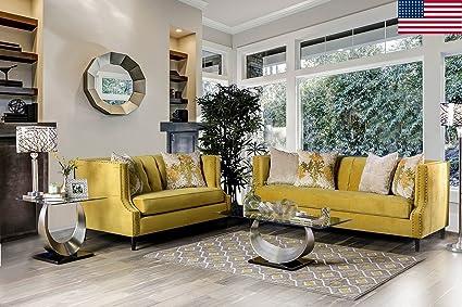 Amazon.com: Esofastore Contemporary Majestic Royal Yellow ...