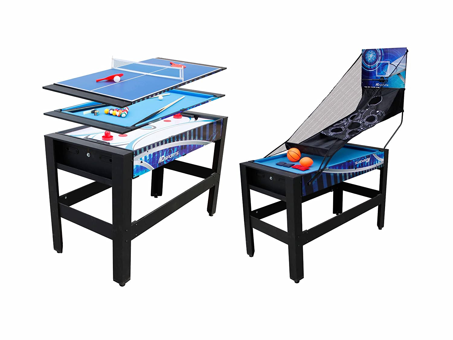 Amazon.com : Medal Sports 6 In 1 Flip Table, 48 Inch : Combination Game  Tables : Sports U0026 Outdoors