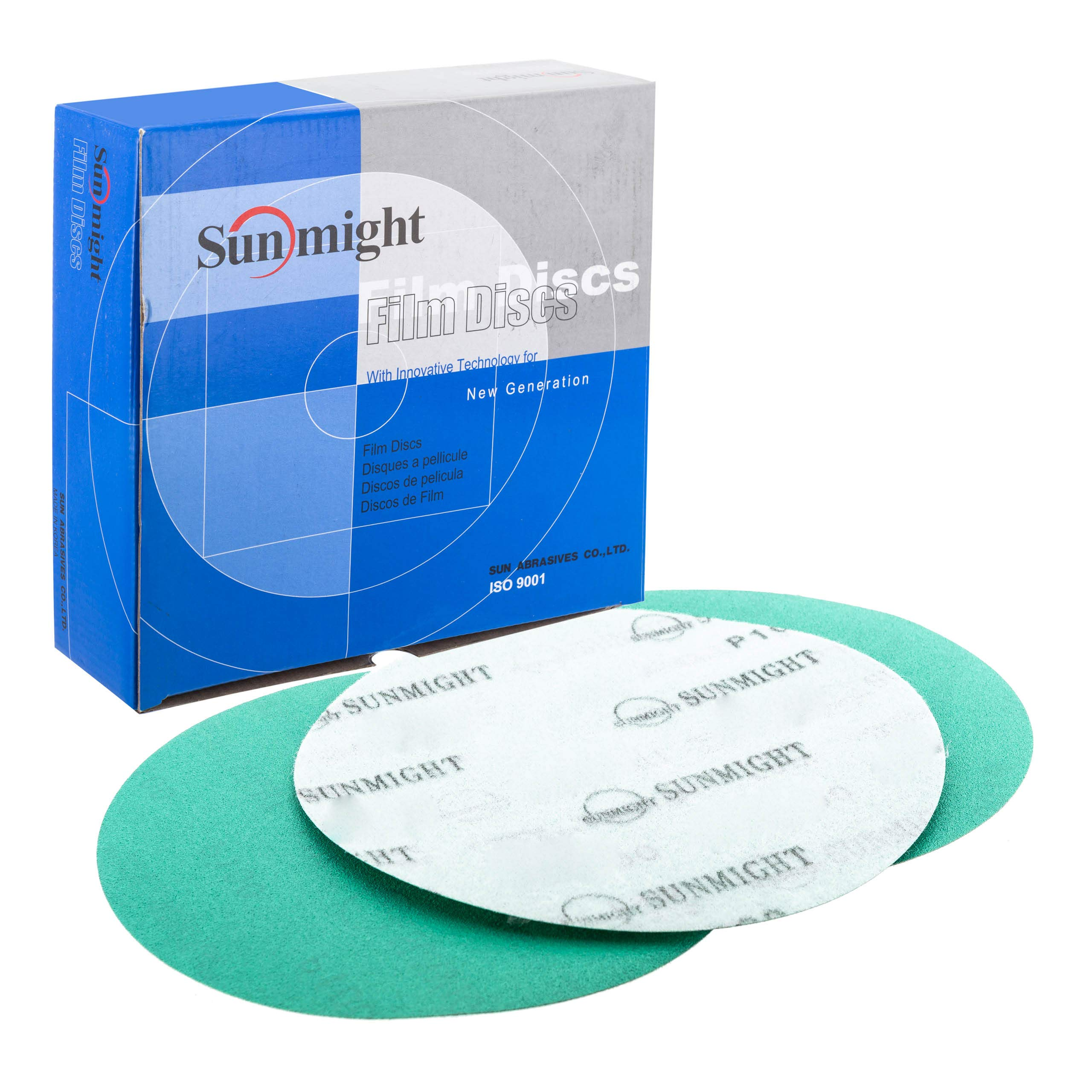 Sunmight 01606 1 Pack 8'' No Hole Velcro Disc (Film Grit 80) by Sunmight
