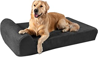"""product image for Big Barker 7"""" Pillow Top Orthopedic Dog Bed for Large and Extra Large Breed Dogs (Headrest Edition)"""