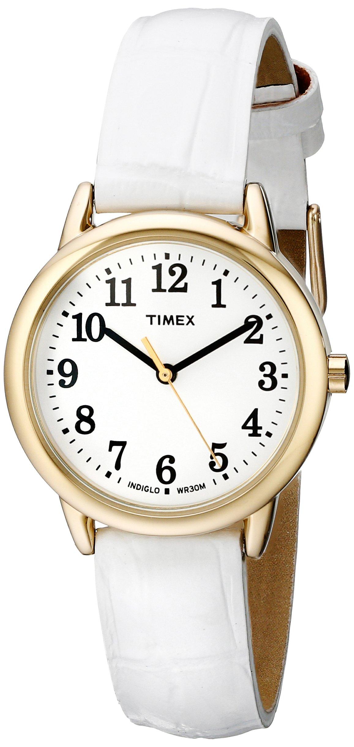 ویکالا · خرید  اصل اورجینال · خرید از آمازون · Timex Women's TW2P68900 Easy Reader White Croco Pattern Leather Strap Watch wekala · ویکالا