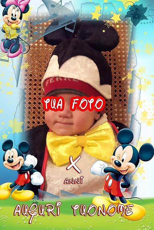 Cialda torta Ostia Topolino Mickey Mouse Rettangolare Personalizzabile ostie