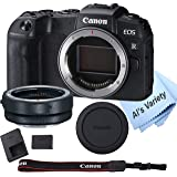 Canon EOS RP Mirrorless Camera (Body Only)+ Mount Adapter EF-EOS R,Cleaning Cloth (7pc Bundle)