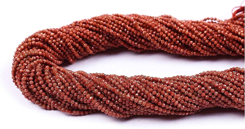 Neerupam Collection 2 mm Sunstar Natural facetado rondelle Semi Preciosas Piedras Preciosas Perlas Sueltas para la elaboración de Joyas Pendiente de la Pulsera Collar, Lote de 1 hebras
