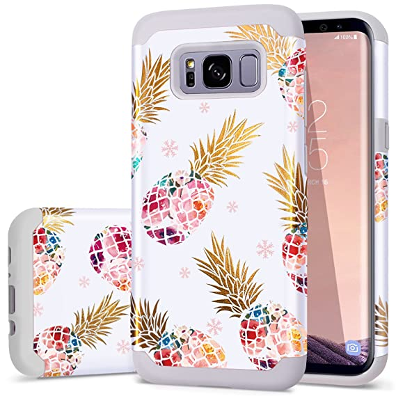 size 40 89324 2f617 Samsung S8 Plus Case,S8 Plus Case Pineapple,Fingic Floral Pineapple Ultra  Slim Case Hard PC Soft Rubber Anti-Scratch Shockproof Protective Case Cover  ...